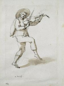 Man with Viol by Inigo Jones