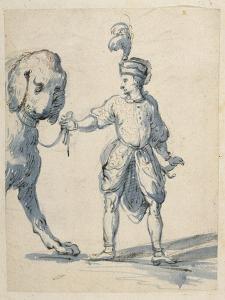 Polish Dwarf Leading a Dog by Inigo Jones