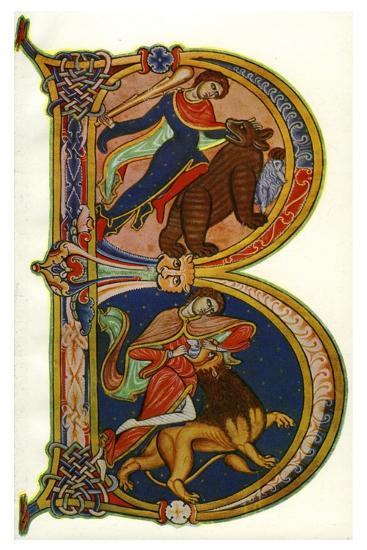 Initial B, Bible, Winchester, C1160-1170--Giclee Print
