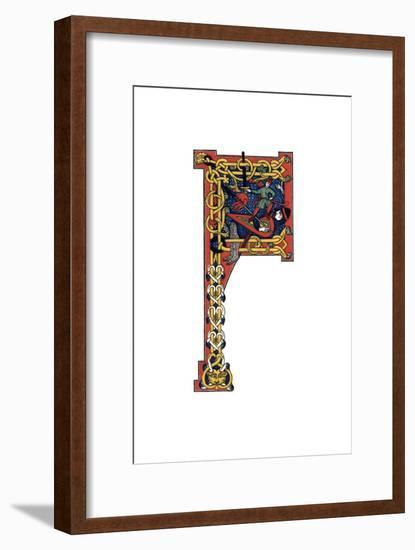 Initial Letter F, 12th Century-Henry Shaw-Framed Giclee Print