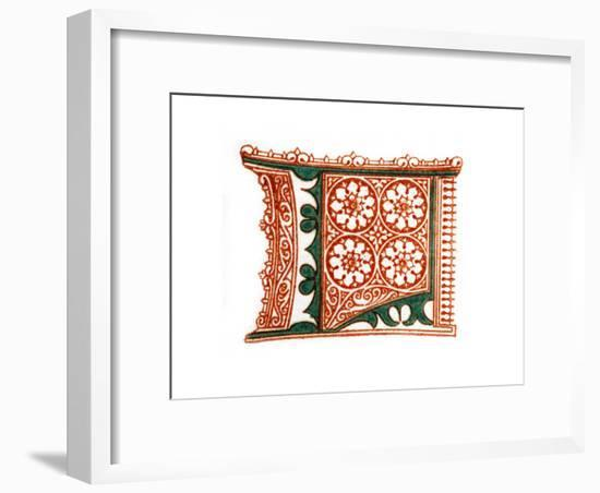 Initial Letter L-Henry Shaw-Framed Giclee Print