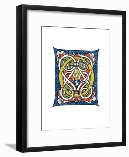 Initial Letter O, C15th Century-Henry Shaw-Framed Giclee Print