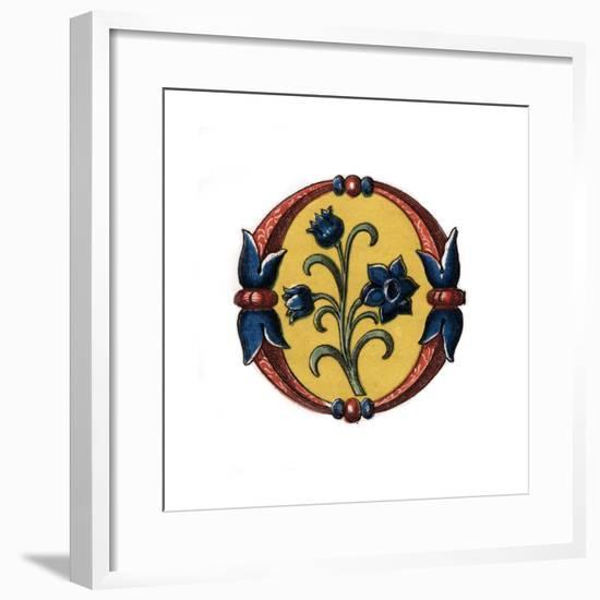 Initial Letter O, Late 15th Century-Henry Shaw-Framed Giclee Print