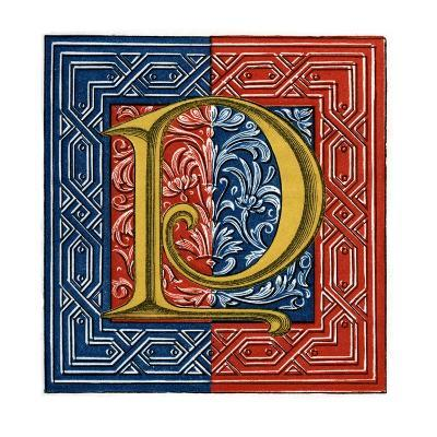 Initial Letter P-Henry Shaw-Giclee Print
