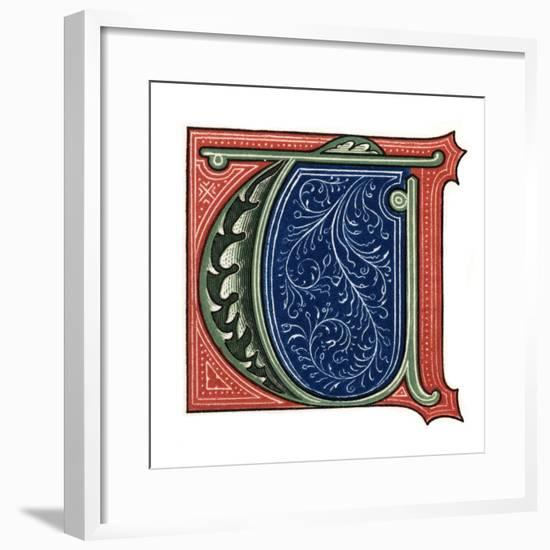 Initial Letter T-Henry Shaw-Framed Giclee Print