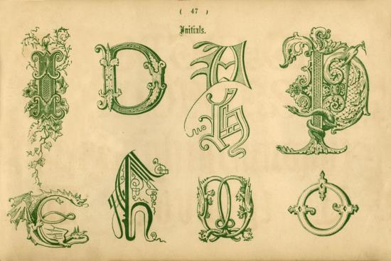 'Initials', 1862-Unknown-Giclee Print