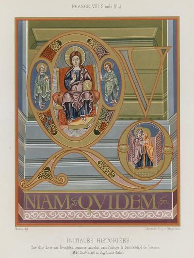 Initials from an 8th-Century Illuminated Manuscript--Giclee Print