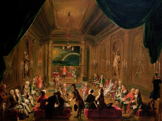 Initiation Ceremony in a Viennese Masonic Lodge During the Reign of Joseph II-Ignaz Unterberger-Giclee Print