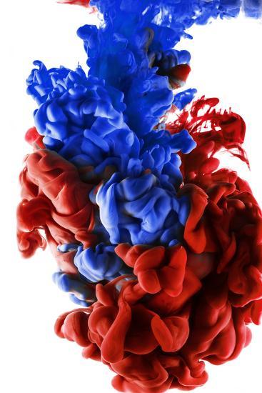 Ink Color Drop, Dark Blue and Red-sanjanjam-Photographic Print
