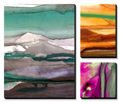 Ink Drips-Tracy Hiner-Canvas Art Set