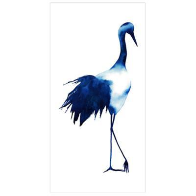 Ink Drop Crane 1 - Free Floating Tempered Glass Panel Graphic Wall Art