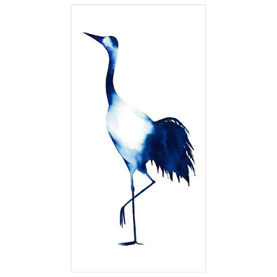 Ink Drop Crane 2 - Free Floating Tempered Glass Panel Graphic Wall Art--Alternative Wall Decor