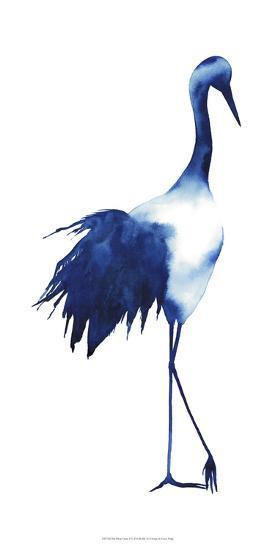 Ink Drop Crane I-Grace Popp-Art Print