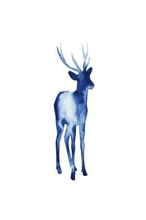 Ink Drop Rusa Deer I-Grace Popp-Framed Art Print