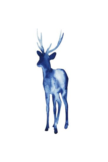 Ink Drop Rusa Deer II-Grace Popp-Art Print