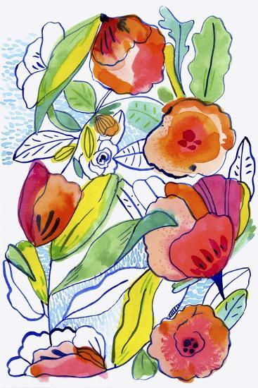 Ink Flowers-Cayena Blanca-Giclee Print