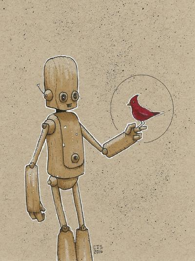 Ink Marker Bot Cardinal-Craig Snodgrass-Giclee Print