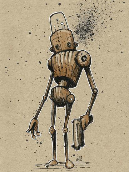 Ink Marker Bot Gunman-Craig Snodgrass-Giclee Print