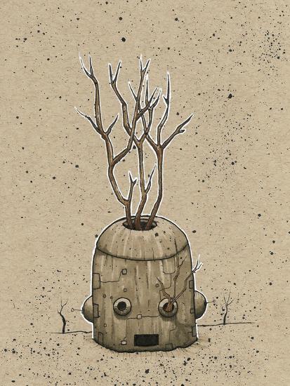 Ink Marker Bot Tree Pot-Craig Snodgrass-Giclee Print