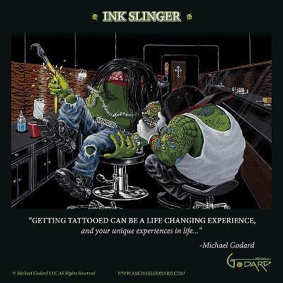 Ink Slinger-Michael Godard-Art Print