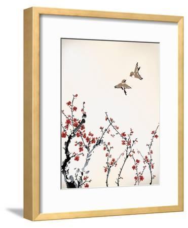 Ink Winter Sweet-baoyan-Framed Art Print