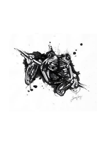 Inked Frog-James Grey-Art Print