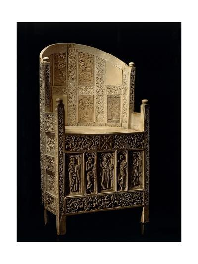 Inlaid Wood and Ivory Paleochristian Sculpture Depicting the Chair of Bishop Maximian--Giclee Print