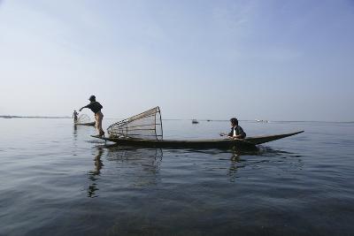 Inle Lak Traditional Fishing--Photographic Print