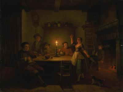 Inn Interior by Candle Light-Pieter Huys-Giclee Print