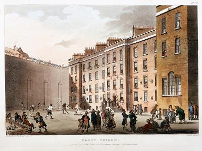 Inner Court, Fleet Prison, London, 1808-1811-Thomas Rowlandson-Giclee Print