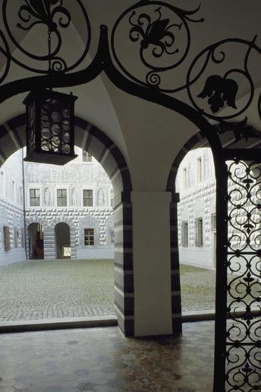 Inner Courtyard, Ambras Castle, Innsbruck. Austria, 16th Century--Giclee Print