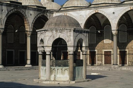 Inner Courtyard and Fountain for Ablutions--Giclee Print