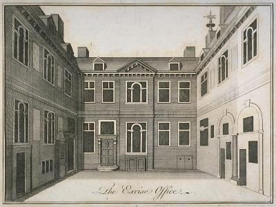 Inner Courtyard of the Excise Office, Old Broad Street, City of London, 1800--Giclee Print