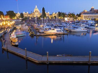 Inner Harbour with Parliament Building, Victoria, Vancouver Island, British Columbia, Canada, North-Martin Child-Photographic Print