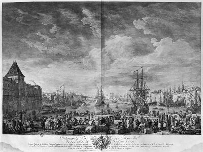Inner Port of Marseille, Seen from the Pavilion of the Horloge Du Parc-Claude Joseph Vernet-Giclee Print