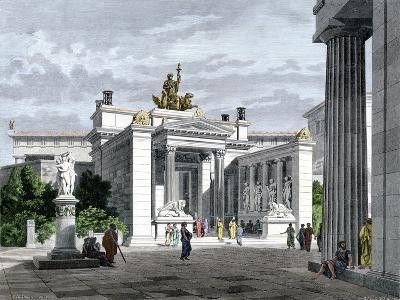 Inner Vestibule, Temple of the Mysteries in Eleusis, Ancient Greece--Giclee Print