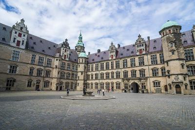 Inner Yard in the UNESCO World Heritage Site Kronborg Renaissance Castle, Helsingor, Denmark-Michael Runkel-Photographic Print