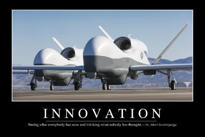 Innovation: Inspirational Quote and Motivational Poster--Photographic Print