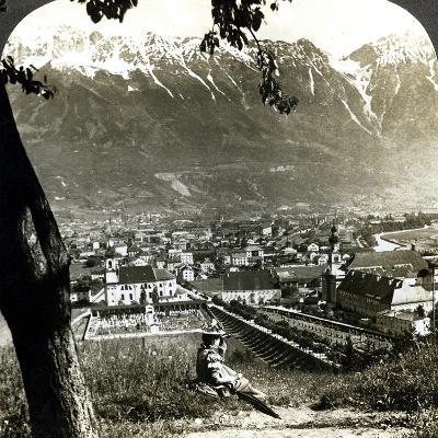 Innsbruck and the Bavarian Alps, Tyrol, Austria-Underwood & Underwood-Photographic Print