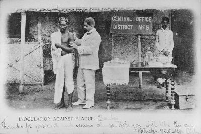 Inoculation Against Plague in Bombay, Early 20th Century--Photographic Print