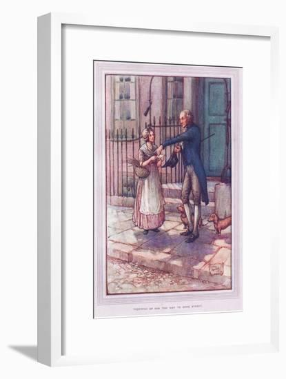 Inquiring of Him the Way to Some Street-Sybil Tawse-Framed Giclee Print