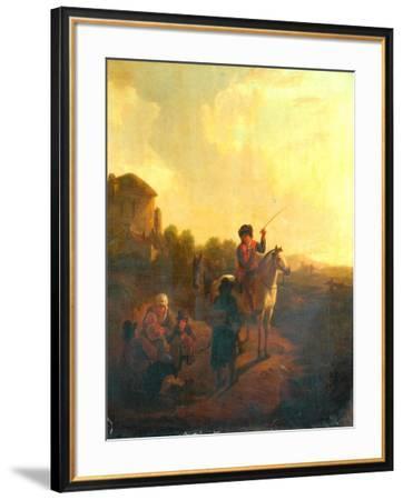 Inquiring The Way-Aelbert Cuyp-Framed Giclee Print