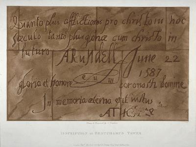 Inscription in Latin by Philip Howard, Earl of Arundel, 1587-Charles Tomkins-Giclee Print