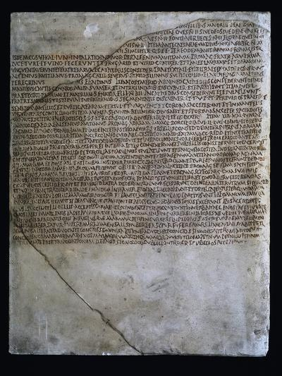 Inscription of Carmen Arvale, Chant of Arval Priests or Fratres Arvales, 218--Giclee Print