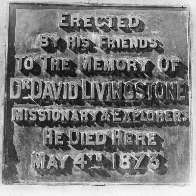 Inscription on the Monument to David Livingstone, Zambia, Africa, Late 19th or Early 20th Century--Giclee Print