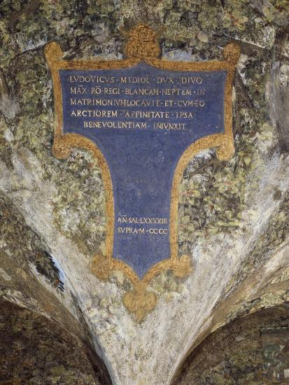 Inscription with Dedication from Milan to Louis Xii--Giclee Print