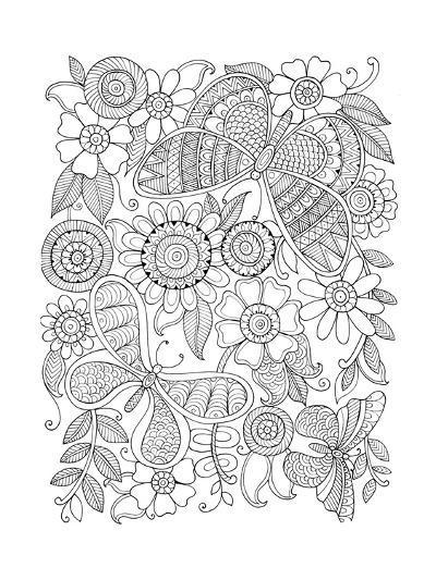 Insect Butterflies-Neeti Goswami-Art Print