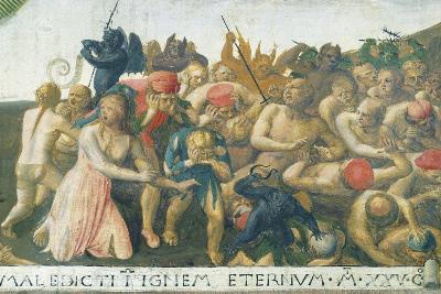 Inset Depicting Last Judgment, Panel from Armadio Degli Argenti--Giclee Print