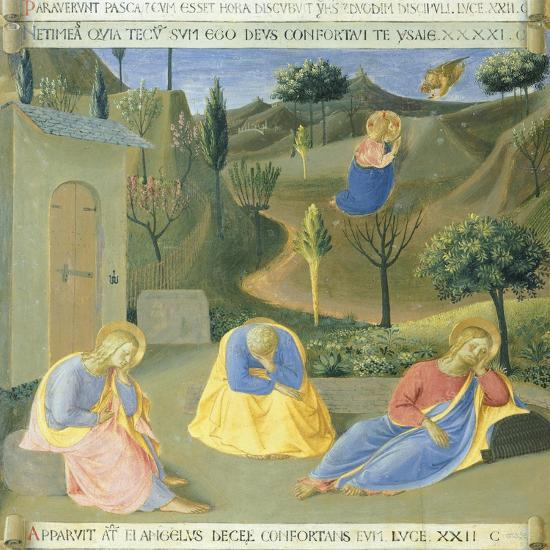 Inset Depicting Praying in Garden, Panel from the Armadio Degli Argenti--Giclee Print