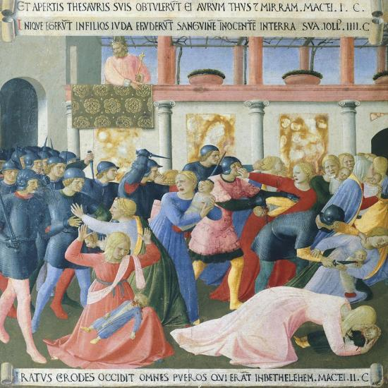 Inset Depicting the Massacre of the Innocents, Panel from the Armadio Degli Argenti--Giclee Print